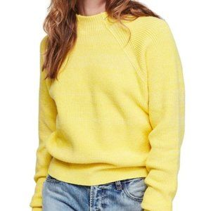 NWT Free People Too Good Pullover Sweater Lemon